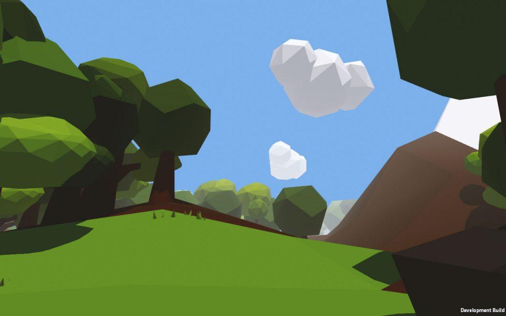 Developmet Build vom LowPoly-Wald